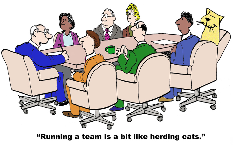 Running a procurement department is like herding cats