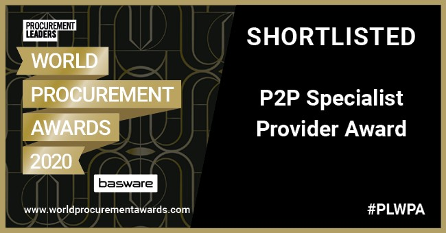 Procure to pay (P2P) Specialist Provider Award - World Procurement Awards 2020