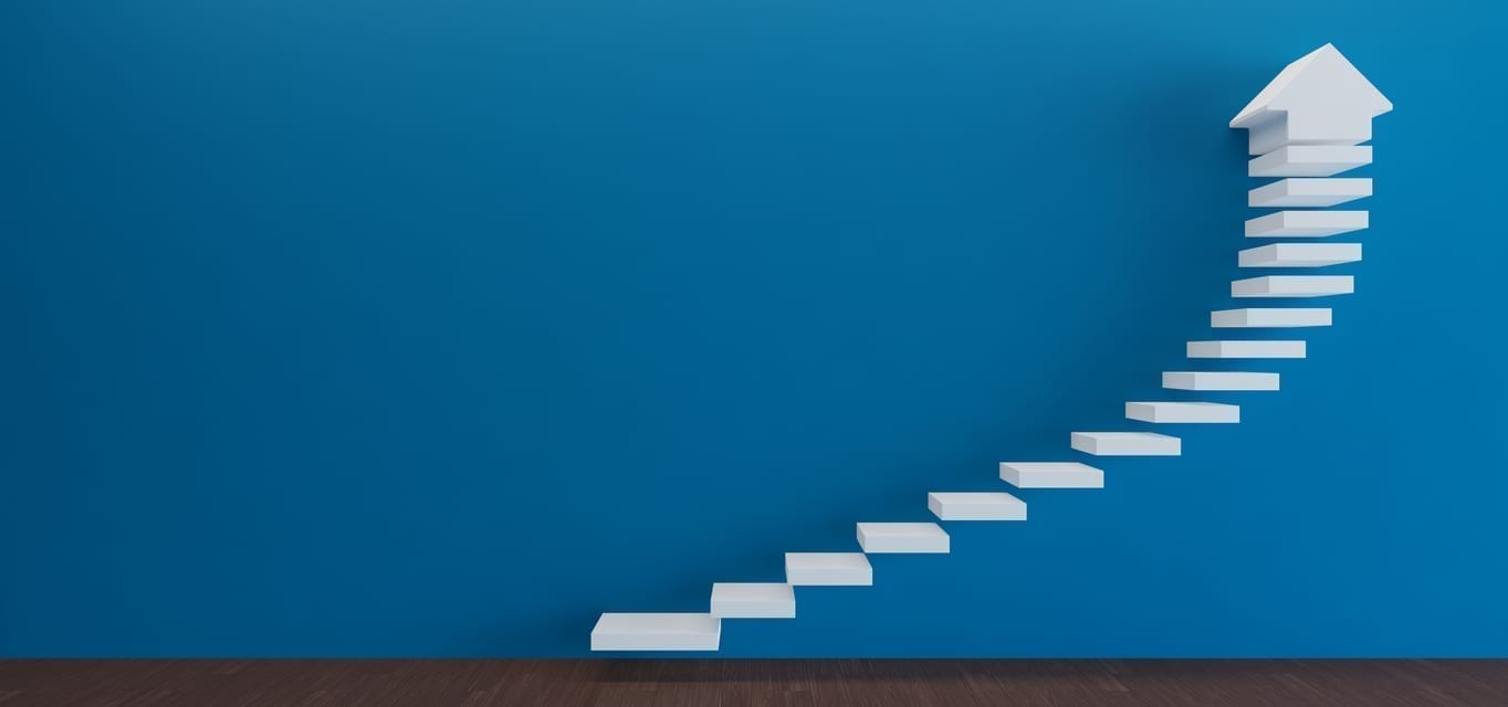 Stairs depicting growth