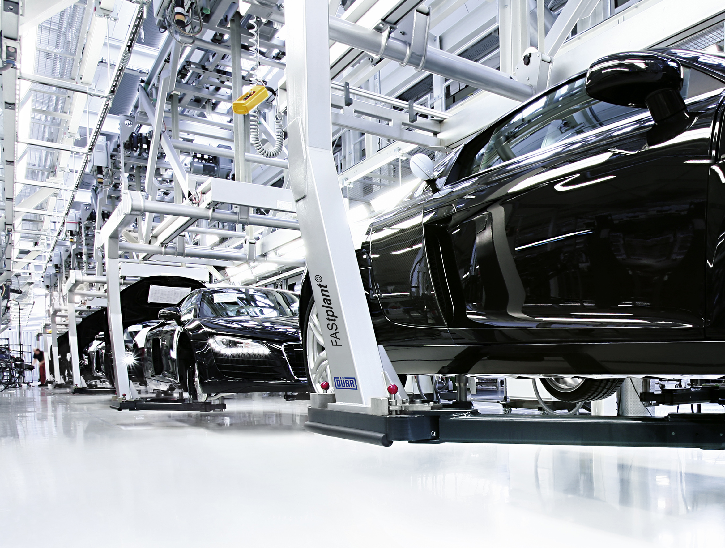 Automobile manufacturing assembly line