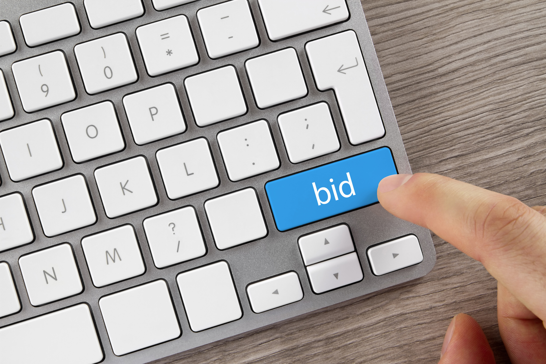 bid button on computer keyboard