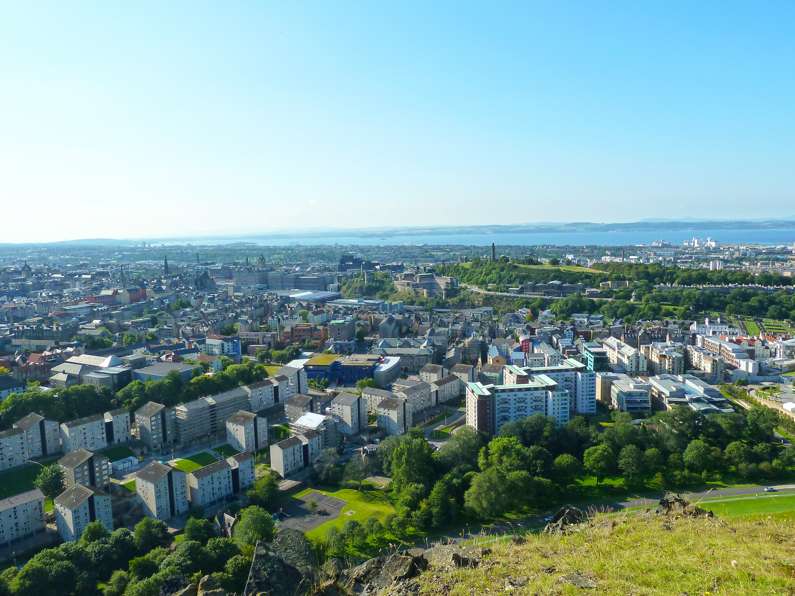 View overlooking Edinburgh from a hilltop