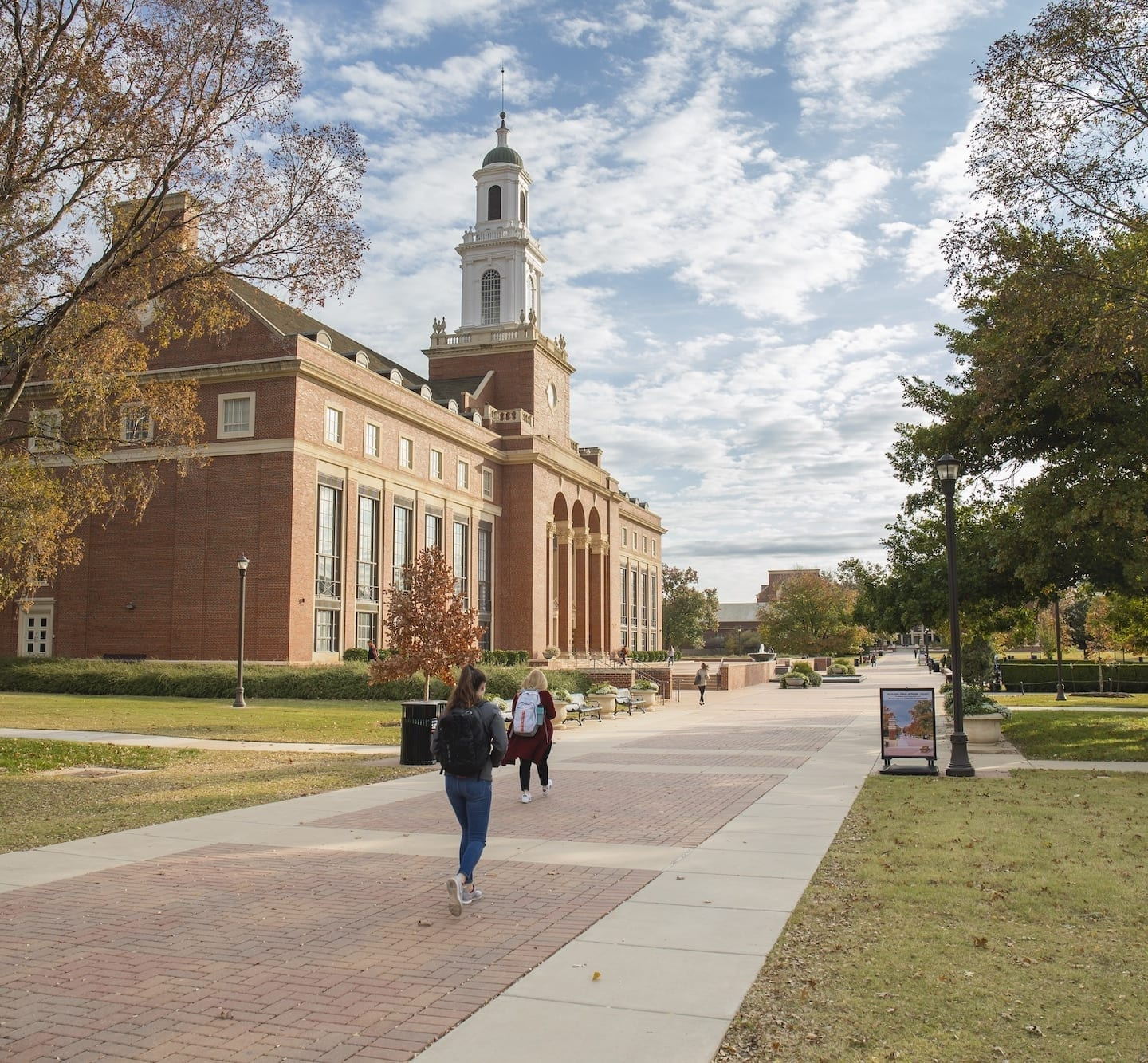 Campus of Oklahoma State University in fall