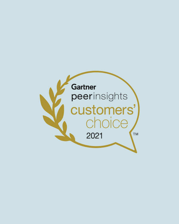 2021 Gartner Peer Insights Customers' Choice Badge