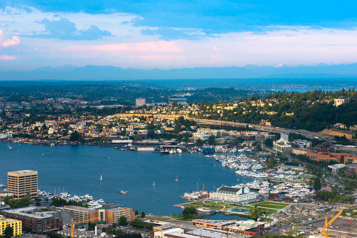 Fred Hutch. South shore of Lake Union in Seattle