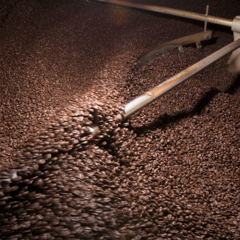 coffee roaster full of beans