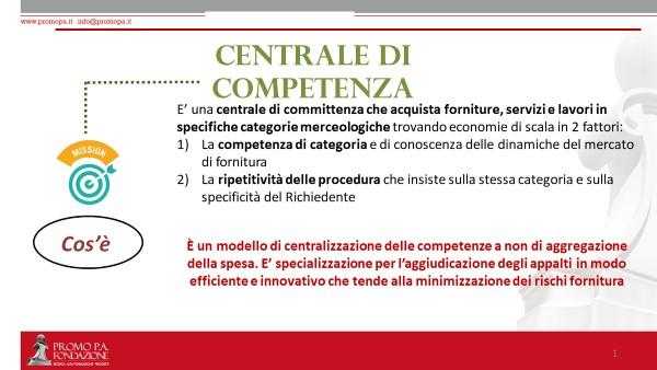 Centrale di competenza- cos'è