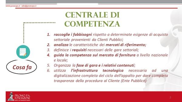 Centrale di competenza-cosa fa